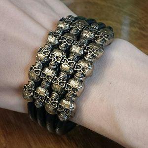 Jewelry - *FINAL SALE* Vegan Gothic Skull Cuff Bracelet